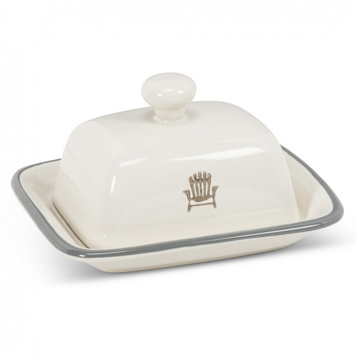 Covered Butter Dish with Cottage Chair