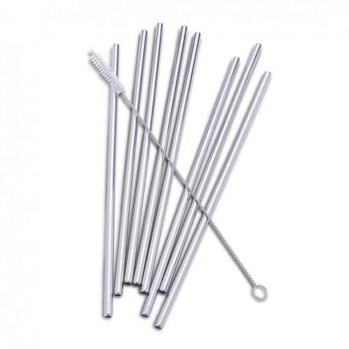 8 Straight Straws with Brush