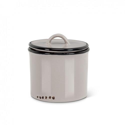 Enamel Look Jar With Lid