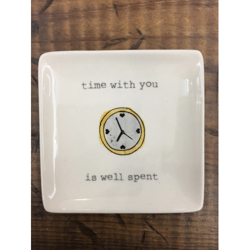 Stoneware Plate with Sayings