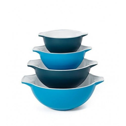 Creo Set of 4 Nesting Bowls (Blue)