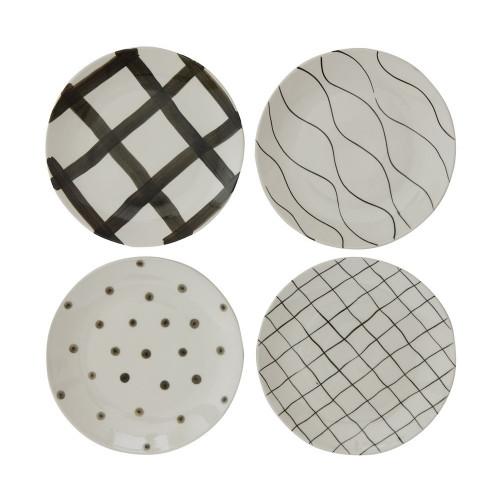 Decorative Round Stoneware Plate